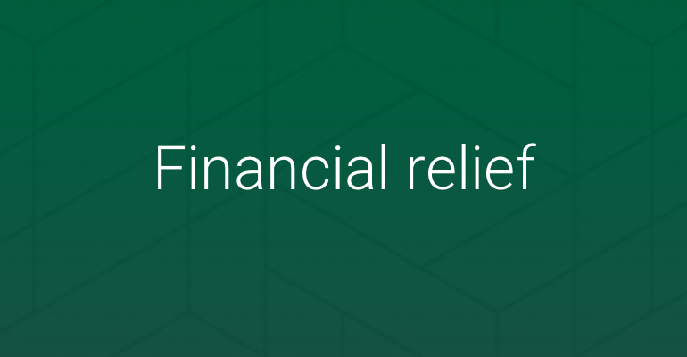 financial relief icon
