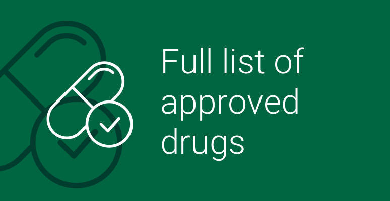 full list of approved drugs icon
