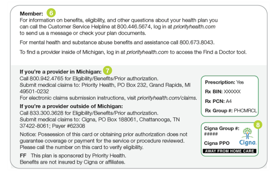 How to read your Cigna member ID card | Member | Priority Health