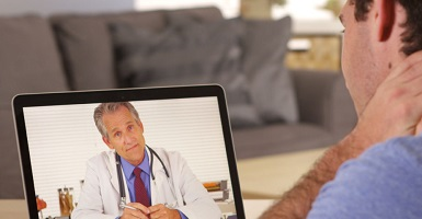 man video chat with doctor